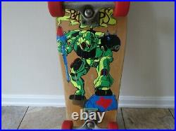 Original 1991 BBC Jeff Phillips ROBO MECH Skateboard Deck Venture Dogtown K9