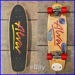 Original 70s Alva Skateboard Vintage Complete with OG Tracker, Kryp C-60 27x8