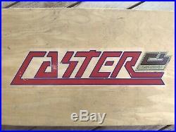 Original 70s Caster Chris Strople Skateboard Vintage Complete