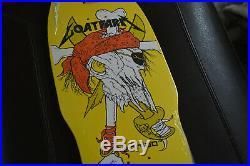 Original Metallica Pushead Zorlac Skateboard Deck Pirate Red Bandana 33/75 RARE