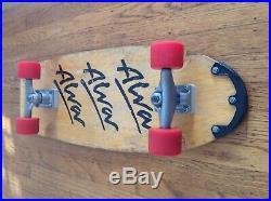 Original Vintage Alva Tri Logo Skateboard. Complete With Kryptonics And Trackers