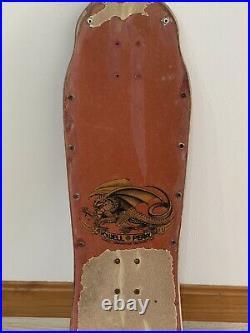 Original Vintage Powell Peralta Tony Hawk 80s Skateboard Deck. Bones Brigade