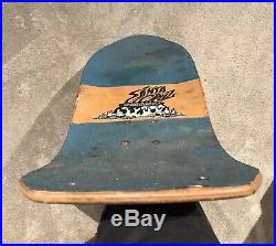 Original Vintage Santa Cruz Salba Tiger Skateboard Deck Not a reissue Grosso