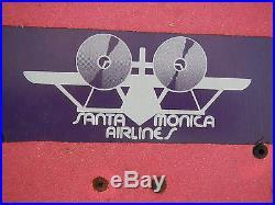 Original Vintage Santa Monica Airlines Natas Kaupas Panther Jim Phillips SMA