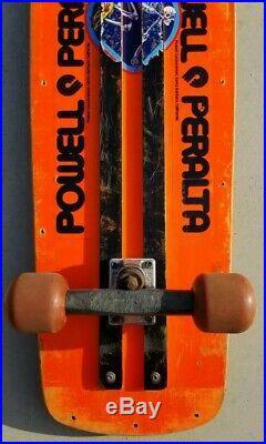 POWELL PERALTA BEAMER FLUORO SKATEBOARD vintage bones hawk mcgill hosoi alva g&s
