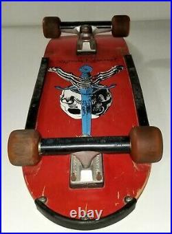 Powell Peralta 1979 Skateboard Deck Red Skull Sword Oj Wheels Vtg Old School Pig