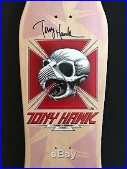Powell Peralta Tony Hawk Skull Signed Skateboard Deck with COA #6/60
