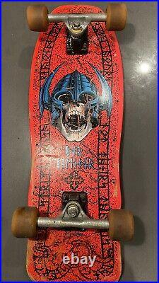 RARE 1989 Powell Peralta Per Welinder Nordic Skull Skateboard Pink Complete