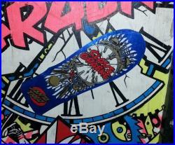 RARE Vintage Claus Grabke Santa Cruz clock skateboard Thunderbolts Big Ugly rail