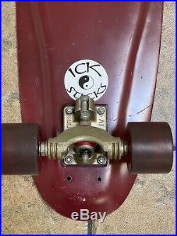 RARE Vintage Ick Stick Skateboard Complete, Gull Wing Splits, RR4s Original 70s