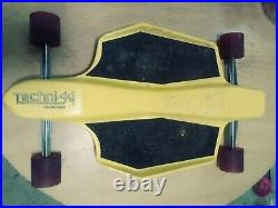 RARE Vintage Magnesium Techni-ski Skateboard Wide wheels & Trucks SWEET