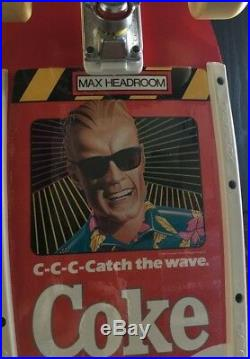 Rare 1987 Variflex Skateboard Enjoy Coke Max Headroom Catch The Wave