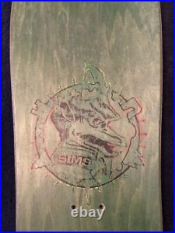 Rare 1990 Sims Pierre Andre Skateboard Deck