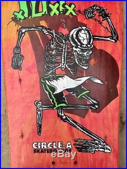Rare OG CIRCLE A DI Punk Rock Skateboard Band Deck Misfits GBH Rancid Nofx