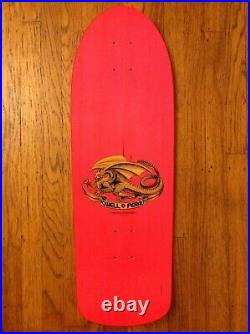 Rare Tony Hawk Powell Peralta Bones Brigade Series 3 Neon Pink Skateboard