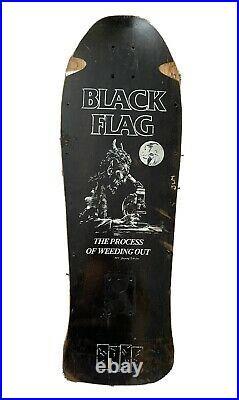 Rare Vintage 1980s Rip City Black Flag skateboard deck