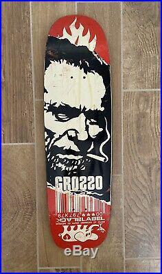 Rare Vintage 2000 Jeff Grosso Charles Bukowski Black Label Skateboard Deck