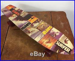 Rare Vintage 70s Surfer Magazine Promo Fiberglass Mini Skateboard ACS-430 Trucks