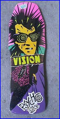 Rare Vintage 80s Vision PSYCHO STICK NOS Reissue skateboard Gonz Mad Purple Alva