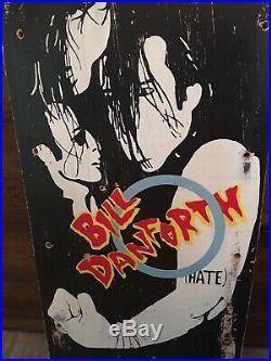 Rare Vintage Madrid Bill Danforth 1985 Misfits Skateboard Deck Hate