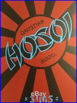 SIMS Christian Hosoi Reissue Skateboard deck Signed 220 Of 250