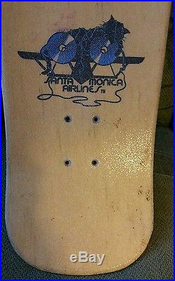 SMA OG Natas Kitten touched up-used Santa Monica Airlines Skateboard Deck