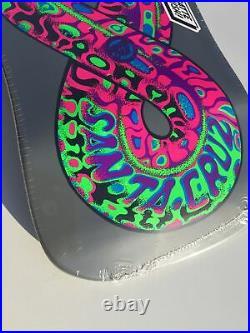 Santa Cruz Blacklight Reissue Jeff Kendall Snake Old School Skateboard Deck