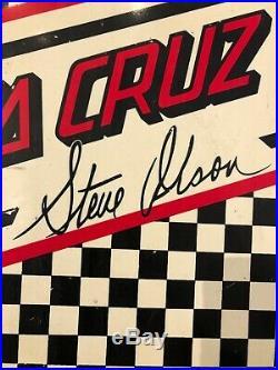 Santa Cruz Steve Olson Skateboard Reissue deck with defects, second quality rare