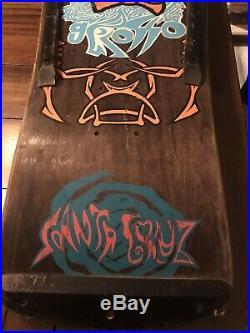 Santa Cruz Vintage Jeff Grosso Acid Tongue Skateboard Deck Used Great Shape