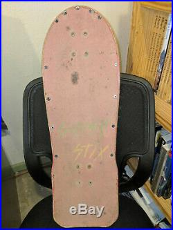 Schmitt Stix Monty Nolder deck Vintage skateboard Alva, Powell, old school, 1985