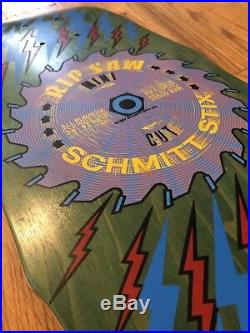 Schmitt Stix Ripsaw Mini Skateboard NOS Vintage Rip Saw, Mint