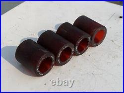 Set of 4 Vintage 1970's SIMS Pure Juice Bowl Riders Dark Red Skateboard Wheels