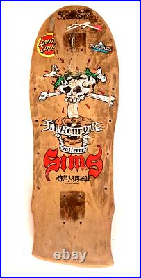 Sims Henry Gutierrez 1987 Pro Model Skateboard Skull on Sword Vintage Deck