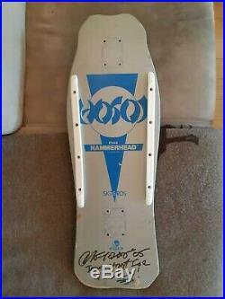Super Rare! 80's Skull Skates Hosoi Hammerhead Signed