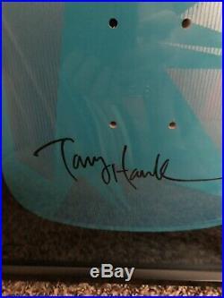 Tony hawk Powell peralta Signed Skateboard Deck In Shadowbox With COA From Powel