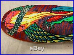 Tracker Lester Kasai Dragon Skateboard Deck Vintage NOS NOT Reissue