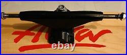 Tracker Sixtrack Ultralight Skateboard Trucks (2), 2nd Gen NOS! 1980s, Black