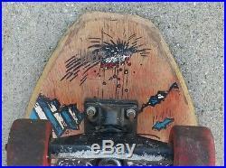 Tracker Vintage skateboard wTracker Trucks and Powell Peralta wheels EARLY 1980s