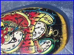 Used Vintage Grabke Melting Clocks Santa Cruz Skateboard Deck