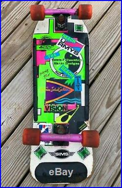 VINTAGE 80s Town and Country Quad Skateboard Vision Shredders Gull Wing Trucks