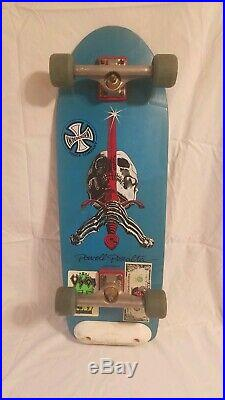 VINTAGE Powell Peralta Skull & Sword COMPLETE Skateboard! NEAR MINT! WithStickers