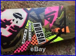 VINTAGE vision mark gonzales skateboard Used 1980's Rare neon/stain (santa cruz)