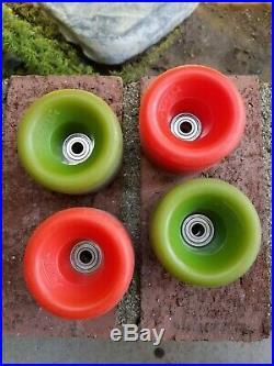 Vintage 1970's Alva Conical Skateboard Wheels Rare with German Speed Bearings