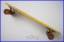 Vintage 1970s Bahne Skateboard Yellow Deck Da Kine Cadillac Wheels Retro Classic