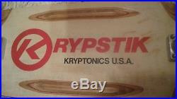 Vintage 1979 Kryptonics KRYPSTIK Complete Skateboard with Trackers & SIMS Snakes