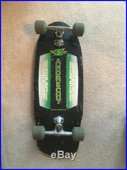 Vintage 1979 Sims Andrecht Skateboard Complete- Sims Dbl Conical Gyros, Lazers