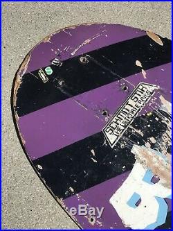 Vintage 1980 Santa Cruz Salba Bevel 2 Skateboard Steve Alba SMA Rare 80s Old