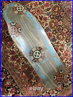 Vintage 1980's Powell Tony Hawk Medallion Skateboard Deck Rare