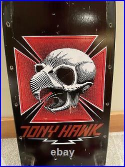 Vintage 1980s OG POWELL PERALTA Tony Hawk Skateboard Black Deck Mcgill Roskopp