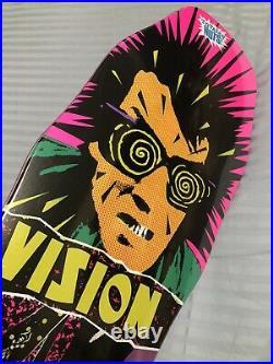 Vintage 1980s Reissue Vision PSYCHO STICK Skateboard Original Shape 10x30 New